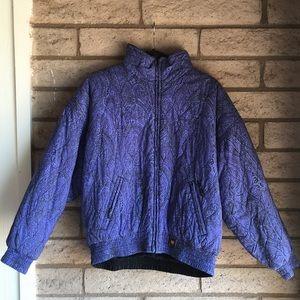 Vintage 80's Ellesse Purple Ski Jacket